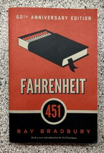 Cover of the Book Fahrenheit 451 60th anniversary edition Ray Bradbury